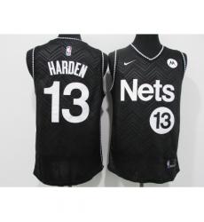 Men's Nike Brooklyn Nets #13 James Harden Black Basketball Jersey