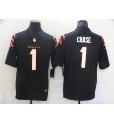 Men's Cincinnati Bengals #1 Ja'Marr Chase Nike Black 2021 NFL Draft First Round Pick Limited Jersey