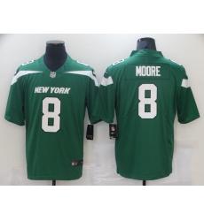 Men's New York Jets #8 Elijah Moore Nike Gotham Green 2021 NFL Draft Pick Player Leopard Jersey