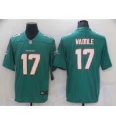 Men's Miami Dolphins #17 Jaylen Waddle Nike Aqua 2021 NFL Draft First Round Pick Leopard Jersey