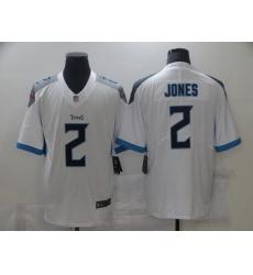 Men's Tennessee Titans #2 Julio Jones Nike White Draft First Round Pick Limited Jersey