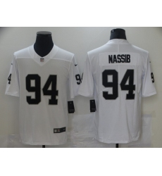 Men's Oakland Raiders #94 Carl Nassib Nike White Limited Jersey