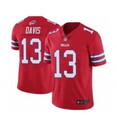 Men's Buffalo Bills #13 Gabriel Davis Red Vapor Untouchable Limited Jersey