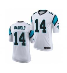 Men's Carolina Panthers #14 Sam Darnold White Vapor Untouchable Limited Jersey