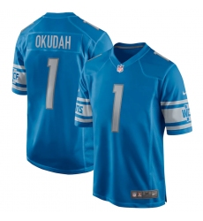 Men's Detroit Lions Nike #1 Jeff Okudah Blue 2020 NFL Draft First Round Pick Game Jersey.webp