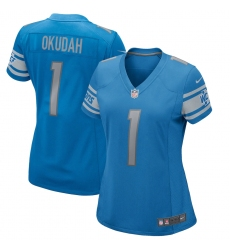 Women's Detroit Lions #1 Jeff Okudah Nike Blue 2020 NFL Draft First Round Pick Game Jersey.webp