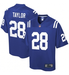Men's Indianapolis Colts #28 Jonathan Taylor Blue NFL Pro Line Royal Big & Tall Player Jersey