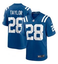 Men's Indianapolis Colts #28 Jonathan Taylor Blue Nike Royal Limited Jersey