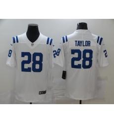 Men's Indianapolis Colts #28 Jonathan Taylor White Nike Royal Limited Jersey