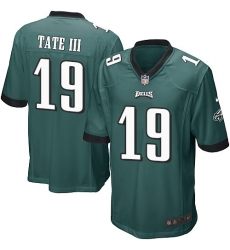 Men's Nike Philadelphia Eagles #19 Golden Tate III Game Midnight Green Team Color NFL Jersey