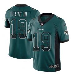 Men's Nike Philadelphia Eagles #19 Golden Tate III Limited Green Rush Drift Fashion NFL Jersey