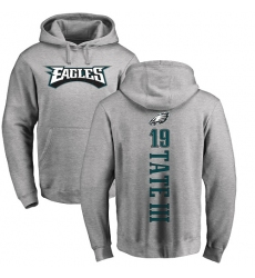 Nike Philadelphia Eagles #19 Golden Tate III Ash Backer Pullover Hoodie