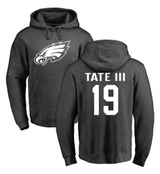 Nike Philadelphia Eagles #19 Golden Tate III Ash One Color Pullover Hoodie