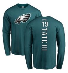 Nike Philadelphia Eagles #19 Golden Tate III Green Backer Long Sleeve T-Shirt