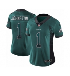 Women's Nike Philadelphia Eagles #1 Cameron Johnston Limited Green Rush Drift Fashion NFL Jersey