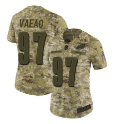 Women's Nike Philadelphia Eagles #97 Destiny Vaeao Limited Camo 2018 Salute to Service NFL Jersey