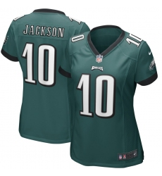 Women's Philadelphia Eagles #10 DeSean Jackson Midnight Green Nike Game Jersey