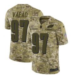 Youth Nike Philadelphia Eagles #97 Destiny Vaeao Limited Camo 2018 Salute to Service NFL Jersey