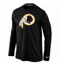 Nike Washington Redskins Team Logo Long Sleeve NFL T-Shirt - Black