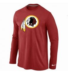 Nike Washington Redskins Team Logo Long Sleeve NFL T-Shirt - Red