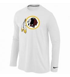 Nike Washington Redskins Team Logo Long Sleeve NFL T-Shirt - White