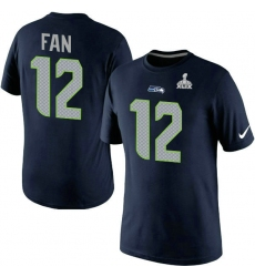 Nike Seattle Seahawks 12th Fan New Name & Number Super Bowl XLIX NFL T-Shirt - Steel Blue