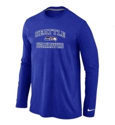 Nike Seattle Seahawks Heart & Soul Long Sleeve NFL T-Shirt - Blue