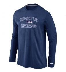 Nike Seattle Seahawks Heart & Soul Long Sleeve NFL T-Shirt - Dark Blue