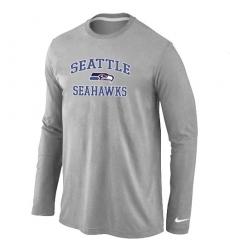 Nike Seattle Seahawks Heart & Soul Long Sleeve NFL T-Shirt - Grey