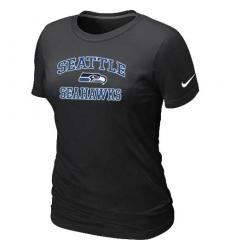 Nike Seattle Seahawks Women's Heart & Soul NFL T-Shirt - Black