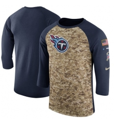 NFL Men's Tennessee Titans Nike Camo Navy Salute to Service Sideline Legend Performance Three-Quarter Sleeve T-Shirt
