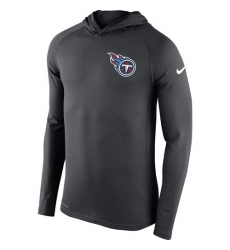 NFL Men's Tennessee Titans Nike Charcoal Stadium Touch Hooded Performance Long Sleeve T-Shirt