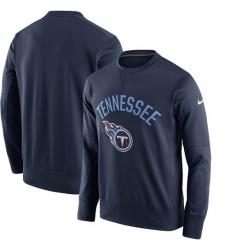 NFL Men's Tennessee Titans Nike Navy Sideline Circuit Performance Sweatshirt