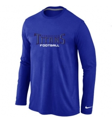 Nike Tennessee Titans Authentic Font Long Sleeve NFL T-Shirt - Blue