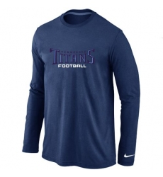 Nike Tennessee Titans Authentic Font Long Sleeve NFL T-Shirt - Dark Blue