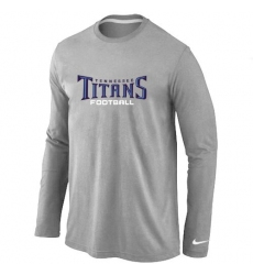 Nike Tennessee Titans Authentic Font Long Sleeve NFL T-Shirt - Grey