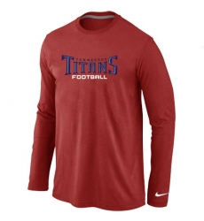 Nike Tennessee Titans Authentic Font Long Sleeve NFL T-Shirt - Red