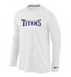 Nike Tennessee Titans Authentic Font Long Sleeve NFL T-Shirt - White
