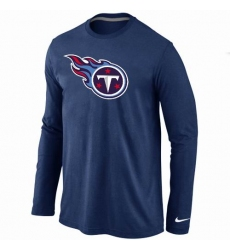 Nike Tennessee Titans Team Logo Long Sleeve NFL T-Shirt - Navy Blue
