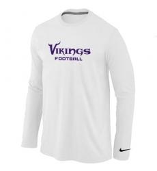 Nike Minnesota Vikings Authentic Font Long Sleeve NFL T-Shirt - White