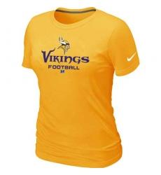 Nike Minnesota Vikings Women's Critical Victory NFL T-Shirt - Gold