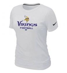 Nike Minnesota Vikings Women's Critical Victory NFL T-Shirt - White