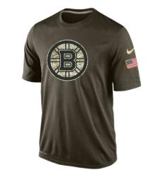 NHL Men's Boston Bruins Nike Olive Salute To Service KO Performance Dri-FIT T-Shirt