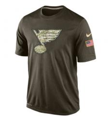 NHL Men's St. Louis Blues Nike Olive Salute To Service KO Performance Dri-FIT T-Shirt