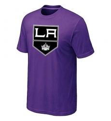 NHL Men's Los Angeles Kings Big & Tall Logo T-Shirt - Purple