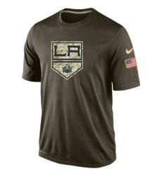 NHL Men's Los Angeles Kings Nike Olive Salute To Service KO Performance Dri-FIT T-Shirt