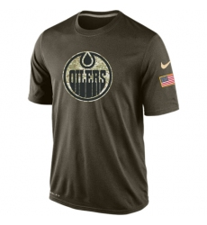 NHL Men's Edmonton Oilers Nike Olive Salute To Service KO Performance Dri-FIT T-Shirt