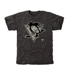 NHL Men's Pittsburgh Penguins Black Rink Warrior Tri-Blend T-Shirt