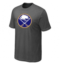 NHL Men's Buffalo Sabres Big & Tall Logo T-Shirt - Dark Grey