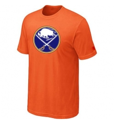 NHL Men's Buffalo Sabres Big & Tall Logo T-Shirt - Orange